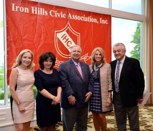 From the left, Dr. Valerie Venterina, Rosanne Clift, Dr. Mohammad Khalid, Victoria Spagnola, Honorable John Fusco